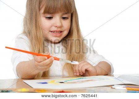 Beautiful Little Girl Painting