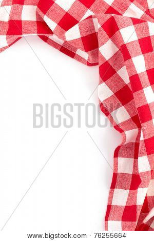 cloth napkin isolated on white background