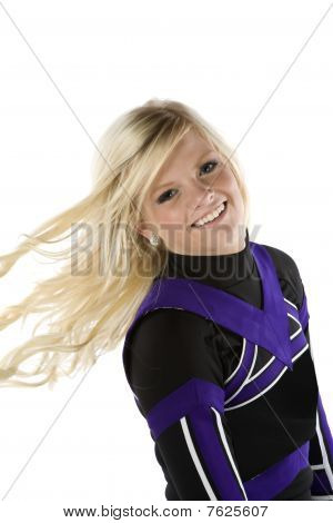 Cheerleader Hair Blowing