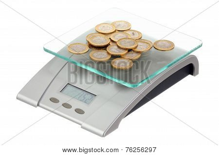 Coins On Electronic Scales