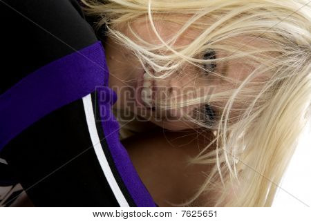 Cheerleader Hair On Face