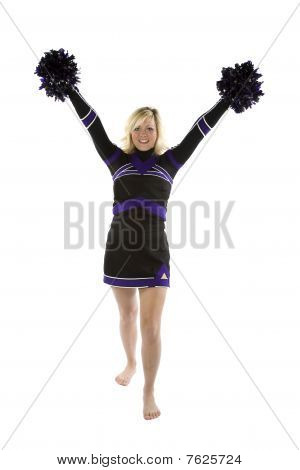 Cheerleader With Pom Poms Up