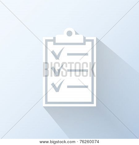 Flat Clipboard Icon. Vector Illustration