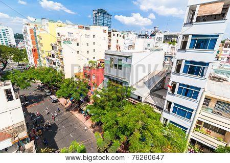 Roof Top View Of Ho Chi Minh City (saigon). Vietnam