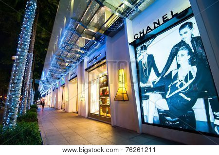Chanel Boutique Display Window. Ho Chi Minh, Vietnam