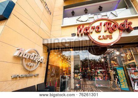 Hard Rock Cafe Restaurant In Ho Chi Minh. Vietnam