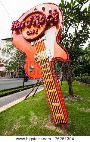 Hard Rock Cafe Guitar In Ho Chi Minh (saigon). Vietnam