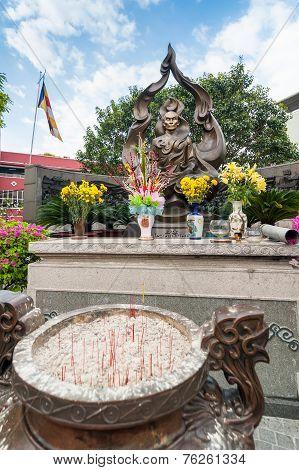 Buddhist Monk Thich Quan Duc Memorial Monument. Ho Chi Minh (saigon). Vietnam