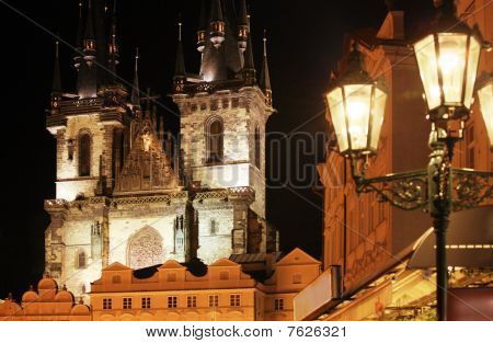 Gothic Church At Night