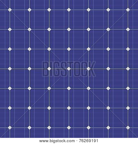 Blue electric solar panel seamless pattern. Vector