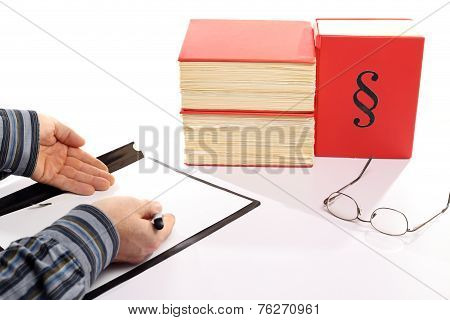 Office Worker With File