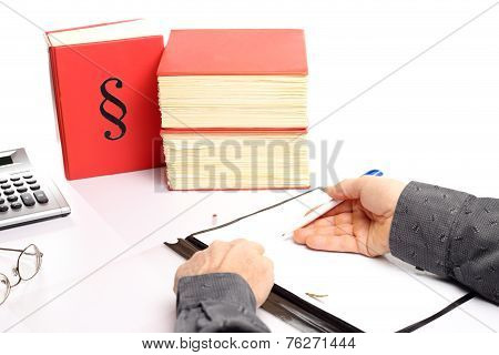 Business Man Is Writing