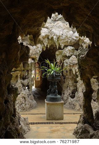 The Fernery - Grotto Interior Swiss Gardens