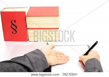 Man Shows Document
