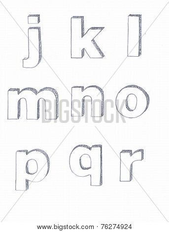 Penciled Letters