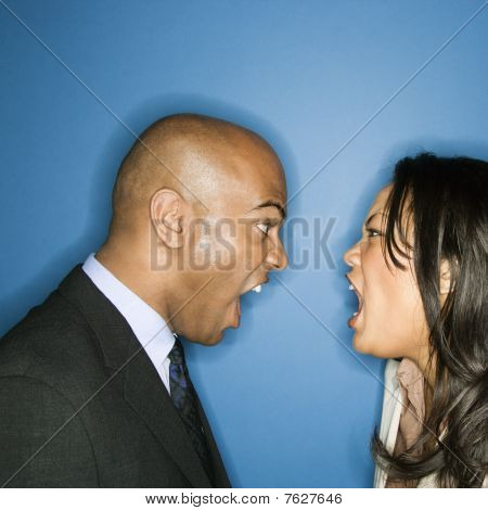 Businesspeople Yelling at Each other
