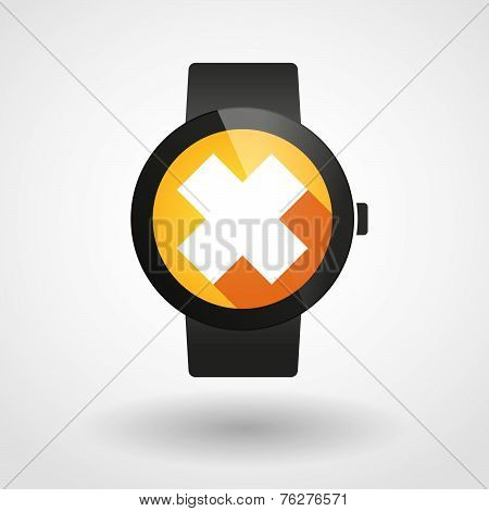 Smart Watch Icon With An Irritating Substance Sign