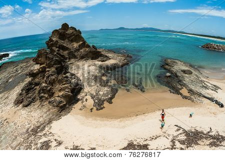Rocky Headland Blue Beaches
