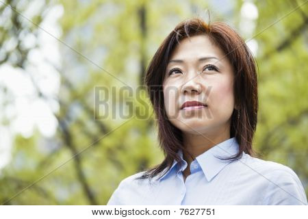 Asian Businesswoman Outdoors