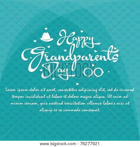 a blue background with white text for grandparents' day