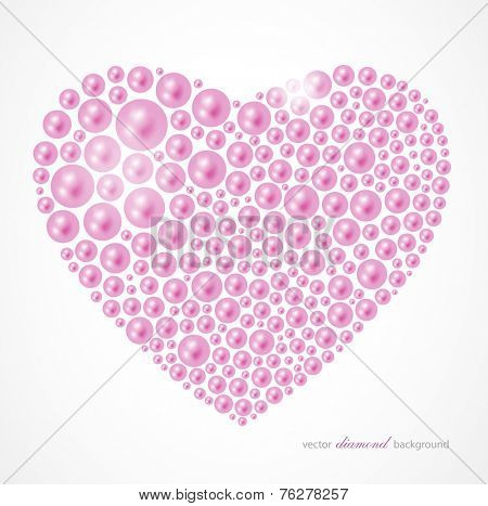 abstract vector pearl heart