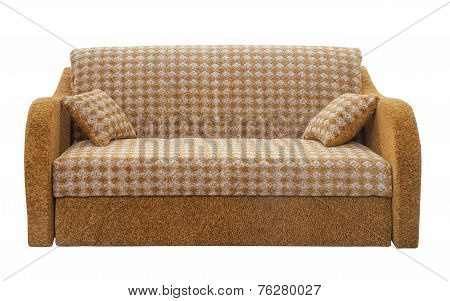 Convertible  modern sofa on a white background