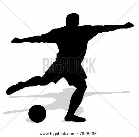 silhouette of soccer player