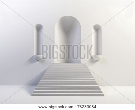Steps Up To Empty Arch
