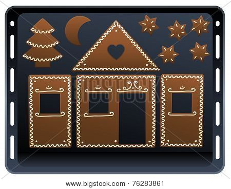 Gingerbread House Baking Plate