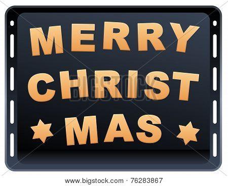 Cookies Merry Christmas Baking Plate