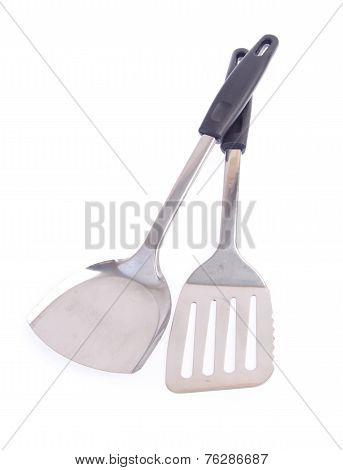 Set Of High Quality Kitchen Utensils On White