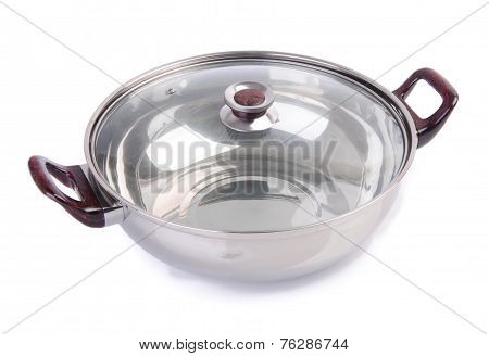 Pan. Stainless Pan Isolated On Background