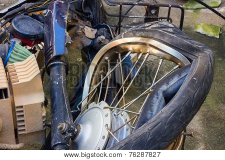 Broken Rashed Motorcycle