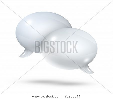 White Speech Bubbles