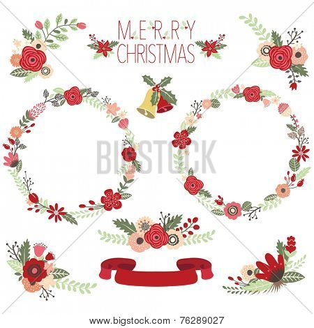 Christmas Floral Wreaths