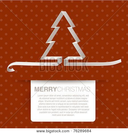 New year and Christmas retro greeting card design
