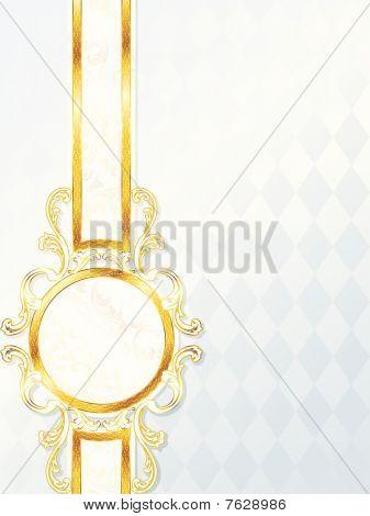 Beautiful rococo wedding banner