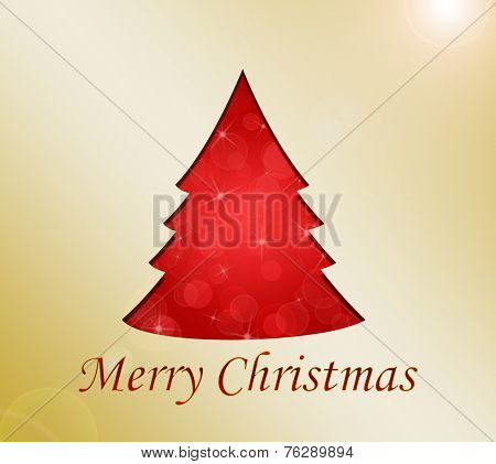 Merry Chtistmas Tree Greeting Card