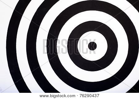 center of a dartboard background