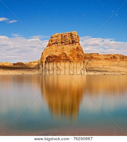Lake Powell night landscape