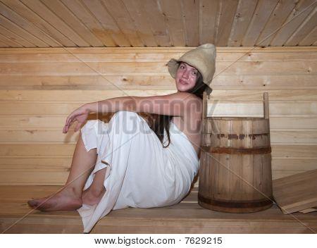Girl In Sauna