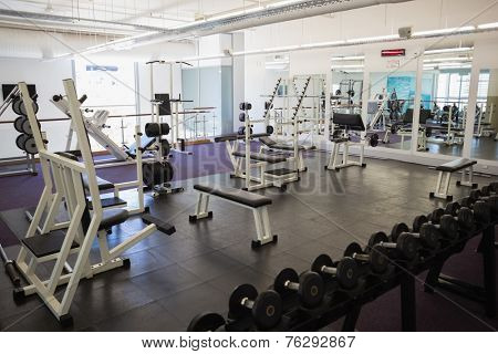 View of equipments in the gym