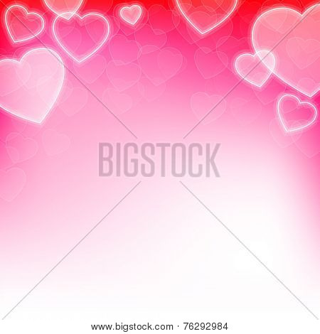 Valentine's day background with hearts and copy space