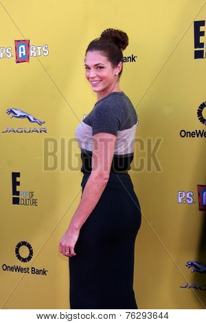 LOS ANGELES - NOV 16:  Amanda Righetti at the PS Arts Express Yourself Benefit at the Barker Hanger on November 16, 2014 in Santa Monica, CA
