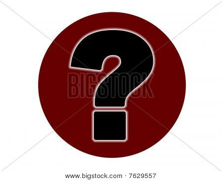 Question Mark in red black