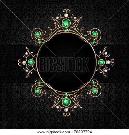 Jewellery black frame