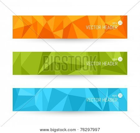 Vector banner backgrounds. Website header set