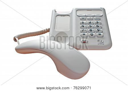 Phone Call On Hold Isolated