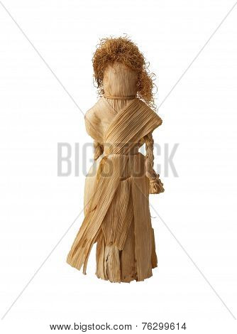Magic Ceremonial Doll From The Leaves Of Corn  Isolated