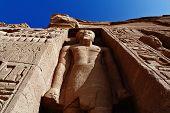foto of hughes  - Hugh standing sculpture high side of Temple of Queen Nefertari in Abu Simbel Egypt - JPG